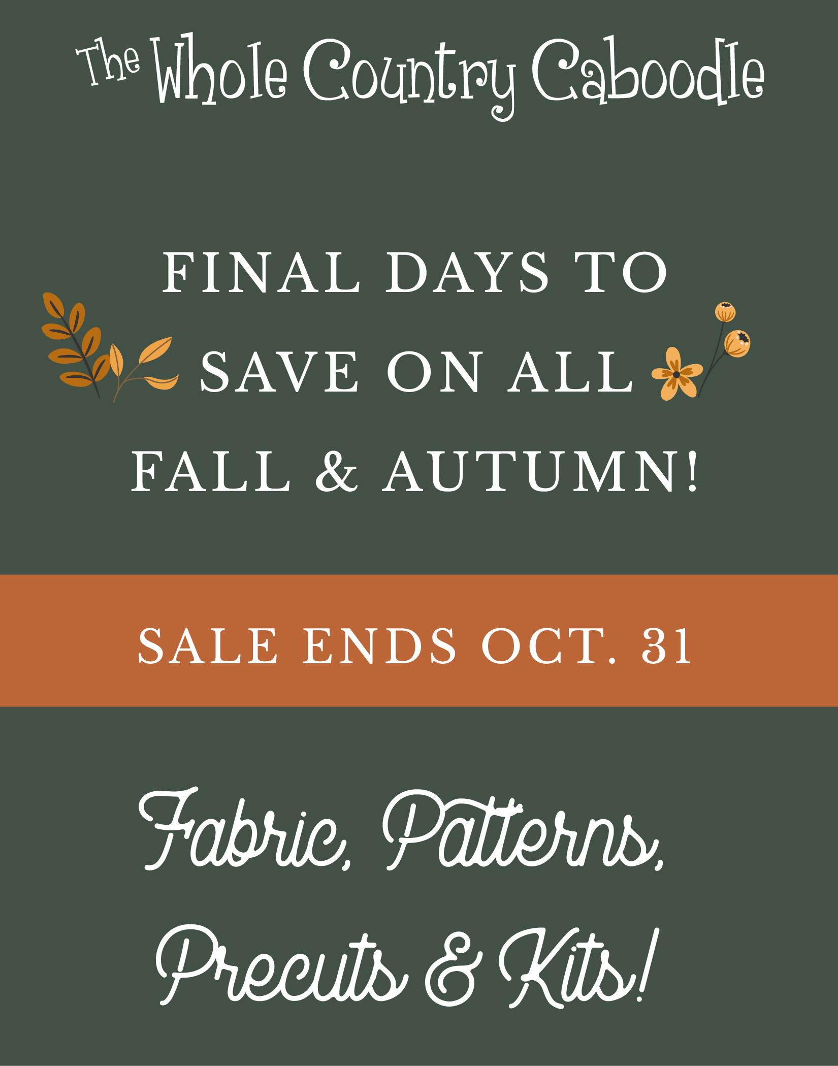 Final days to save!!  Enjoy 25%-50% OFF all Fall items this month!  Watch the video for an overview of the products.
