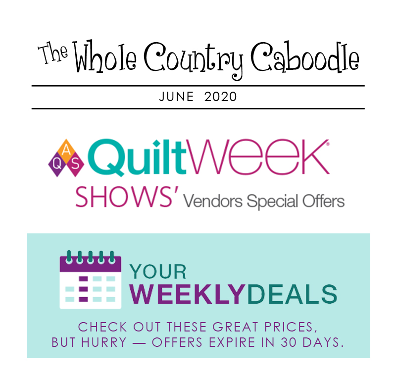 We are excited to be a part of AQS Weekly Deals from AQS Vendors and Sponsors!  Our deal is 15% off all non-sale items and free U.S. shipping over $50!