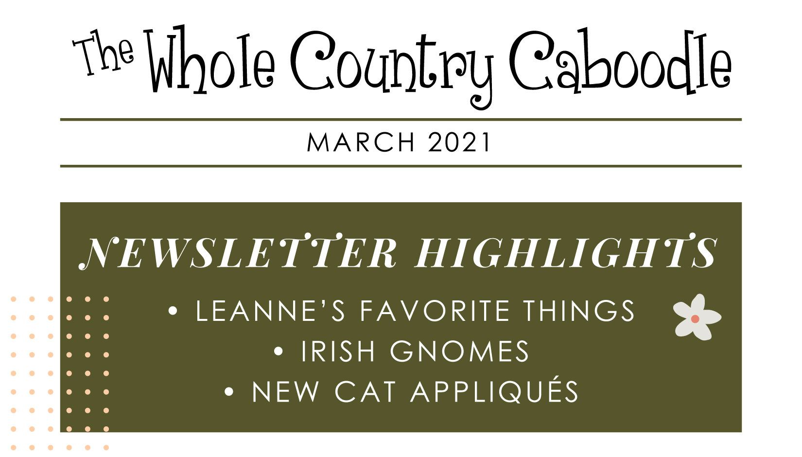 Check out some of Leanne's favorite tools and products as well as new Irish Gnomes!